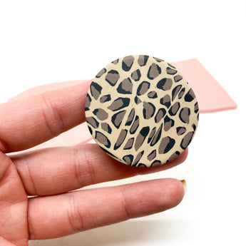 Pop Up Phone Grip - Leopard Print
