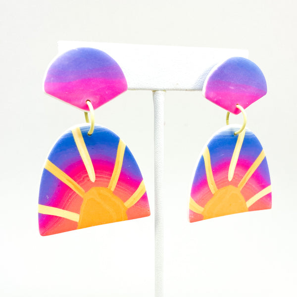 Lucy Earrings -  Neon Sunset