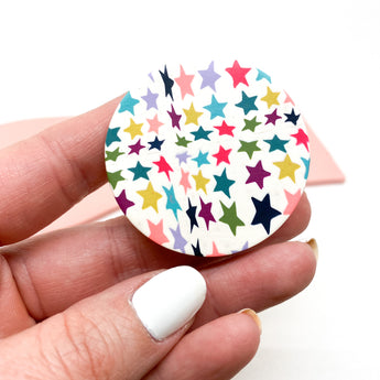 Pop Up Phone Grip - Colorful Stars