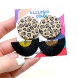 Lola Earrings -  Leopard Print