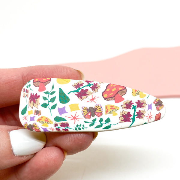 Medium Hair Clip - Cottage Garden