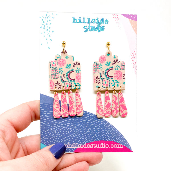 Eve Earrings -  Boho Pattern Mix
