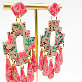 Paige Earrings - Boho Pattern Mix