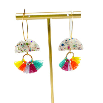Parker Earrings - Rainbow Glitter