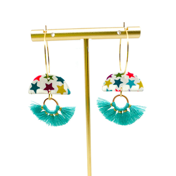 Parker Earrings -  Colorful Stars