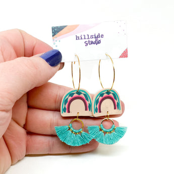 Parker Earrings - Blush Rainbow