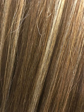 "Highlights in dark hair. 2 bundles with three blends. 12"" Indian Virgin"