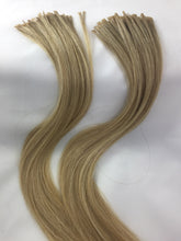 Two Bundles Russian Virgin Blend Hair Extensions, Natural #6 and Lightened #613. 3:1 Three parts blond to 1 part natural