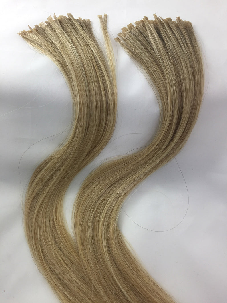 Two Bundles Russian Virgin Blend Hair Extensions, Natural and Lightened Blend 1:1