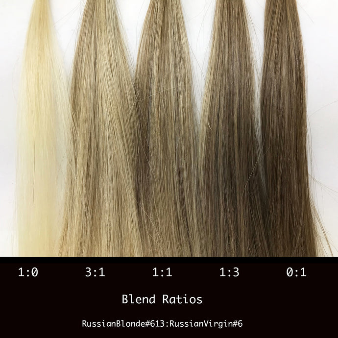 5 bundle blended set of Hair Extensions. Russian. #613 to #6
