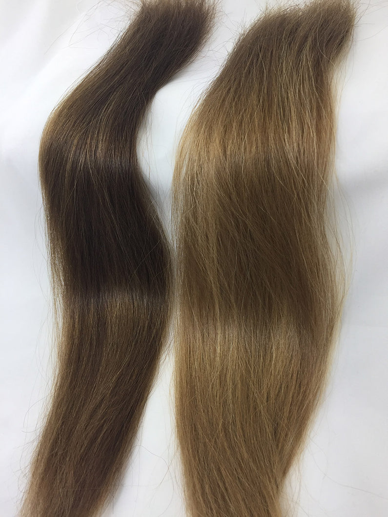Set of two blends. Russian virgin, level #5 and #7/27. Five  bundle set of extensions.
