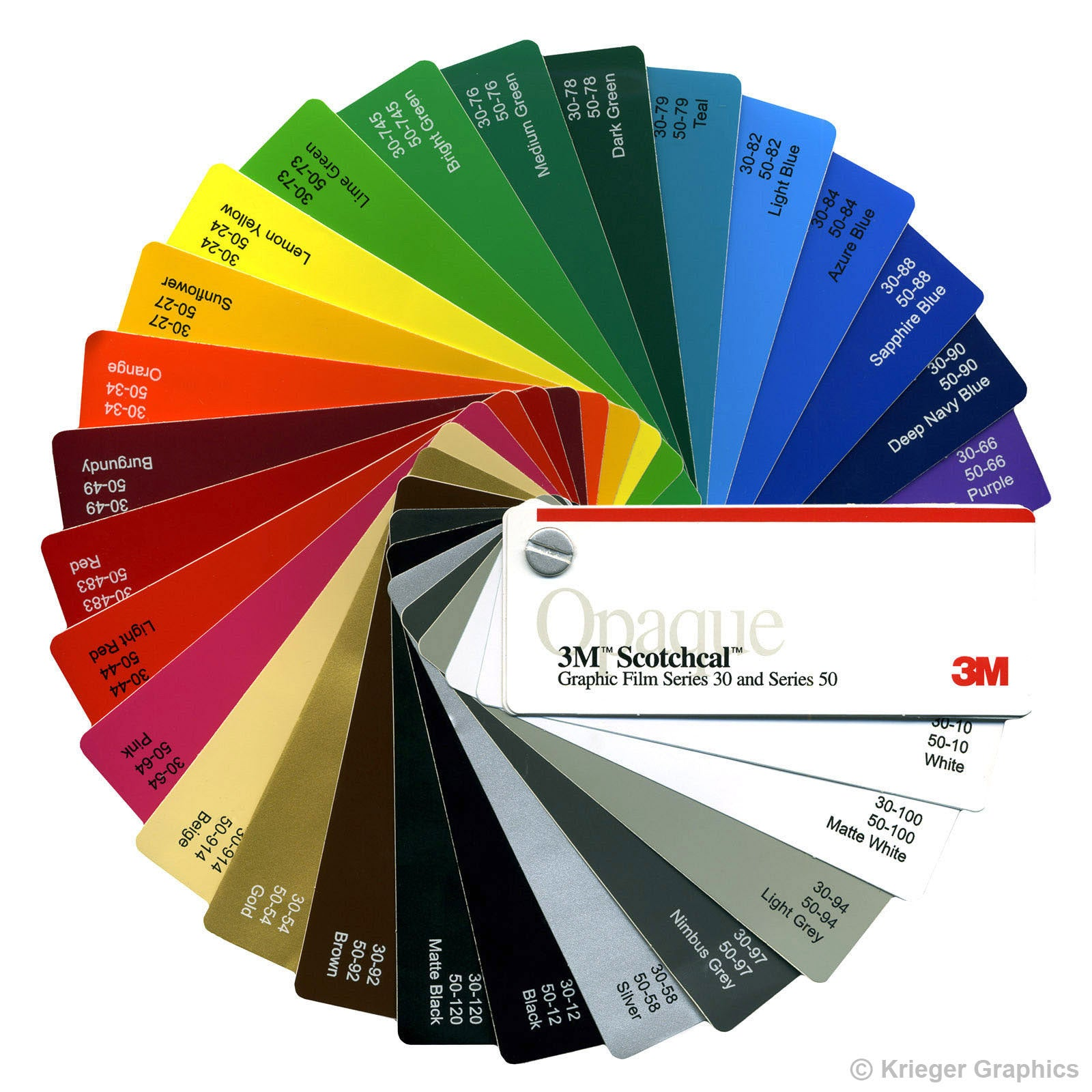 M Scotchcal Vinyl Color Guide - A basic guide to vinyl graphics