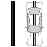 "Illustration of 4"" Solid Racing Stripes on a car."