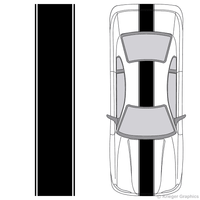 Illustration of Center Racing Stripes on a car.