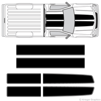 Top view of EZ Rally stripes on a Chevy Colorado