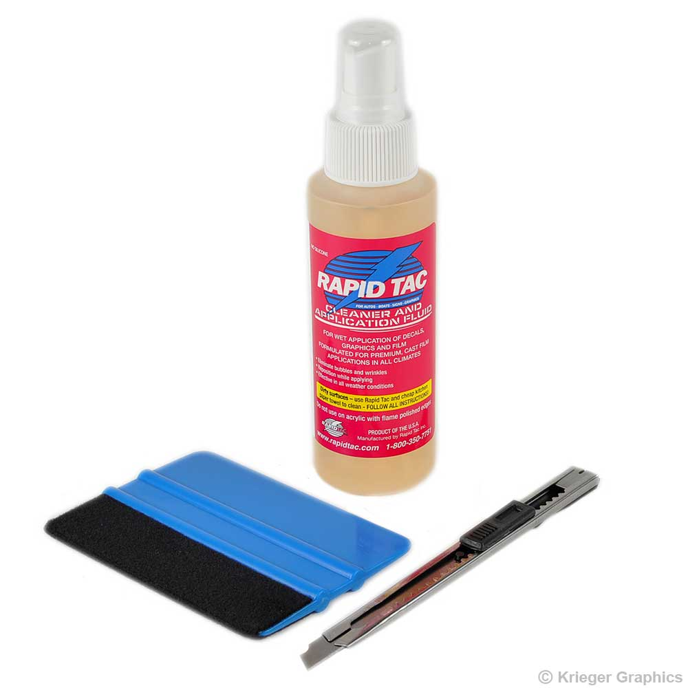 Vinyl Decal Installation Kit With Application Fluid