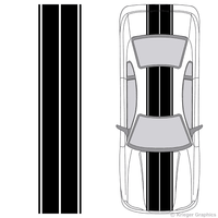 Illustration of Dual Rally Racing Stripes on a car.