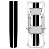 Illustration of EZ Rally Racing Stripes on a car.