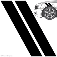 Illustration of Hash Mark Stripes on a car.
