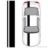 Illustration of Offset Racing Stripes on a car.