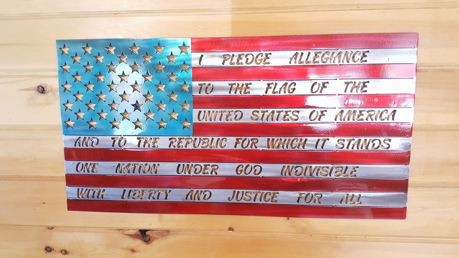 American Flag Full Pledge