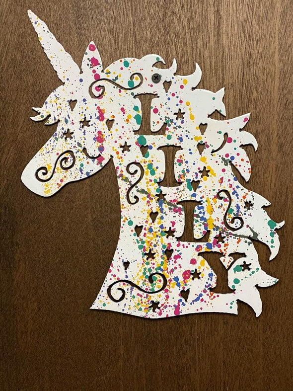 Unicorn Custom Name - Hersey Customs Inc.