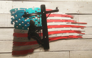 Lineman Tattered Flag - Hersey Customs Inc.