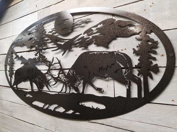 Elk Fight Oval