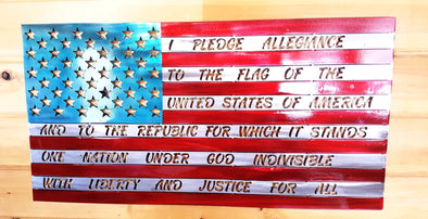 American Flag With Full Pledge - Hersey Customs Inc.