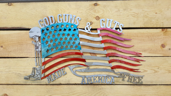 God Guns and Guts Flag
