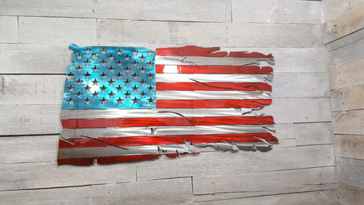Weathered  American Flag