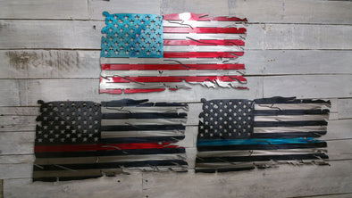 Weathered  American Flag - Hersey Customs Inc.