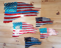 Customizable Tattered Flags