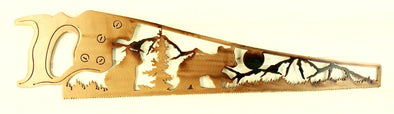 Wood Saw Bear Scene 1 - Hersey Customs Inc.