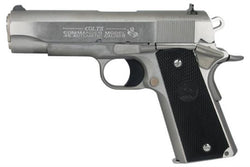 "Colt O1091 1991 Series Government 45 ACP 5"" 7+1 Blk Poly Grip Stainless"