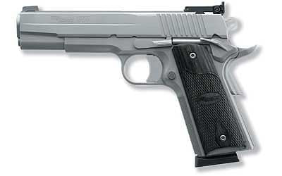 "SIG 1911 45ACP 5"" 8RD STS FNS BLKWD"