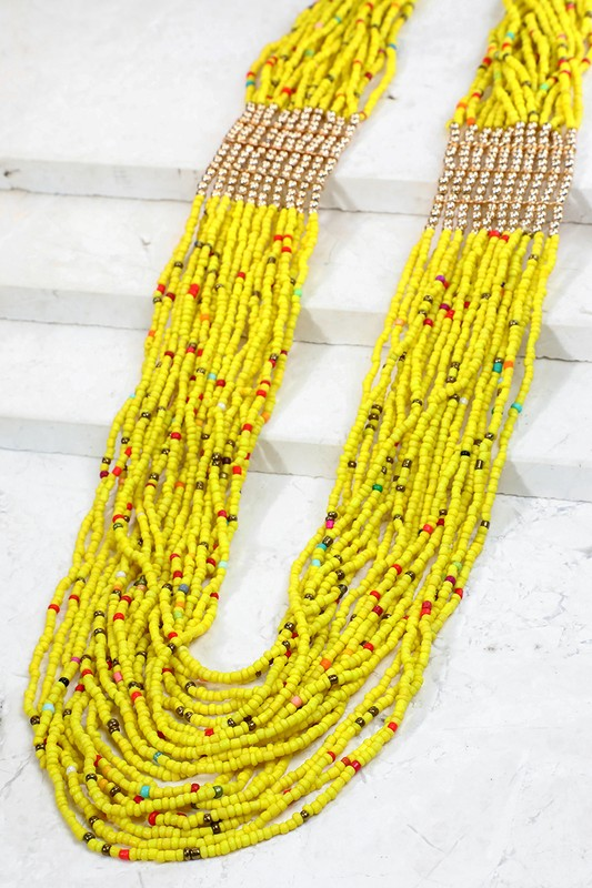 Seed Bead Layered Necklace