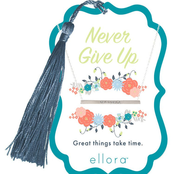 Encouragement Necklace- Never Give Up