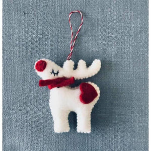 White Reindeer Ornament