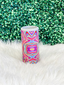 Slim Can Cooler- Neon Swirl
