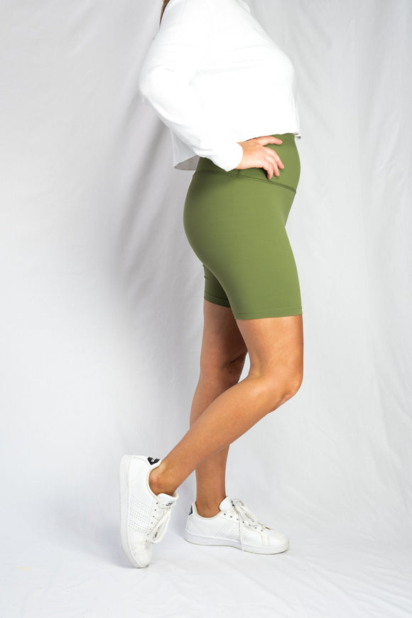 Comfort Bike Short- Olive Green