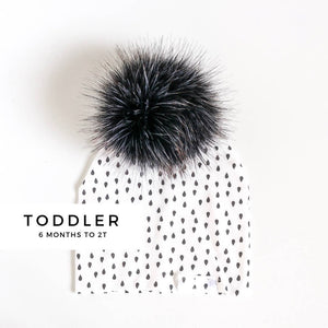 Charcoal On Rain Beanie - Toddler