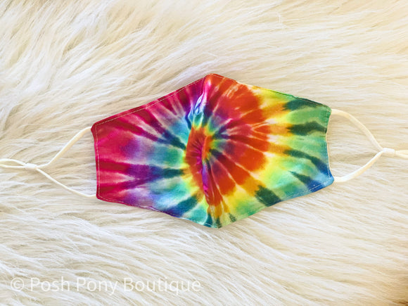 Adjustable Adult Mask - Tie Dye