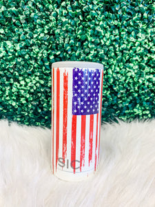 Slim Can Cooler- American Flag