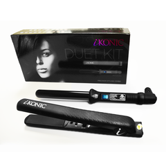 iKONIC - Duet: 100% Pure Ceramic Flat Iron, 25mm (1 inch) Curling Wand