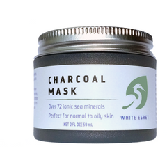 White Egret - Charcoal Mask: Helps clear pores and exfoliates. Normal to dry skin.