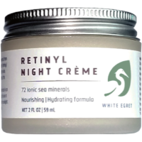 White Egret - Retinyl Night Creme: Made with Vitamin E and sea minerals