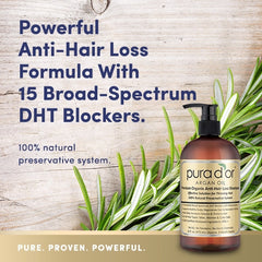 PURA D'OR Anti-Hair Loss Premium Organic Argan Oil Shampoo