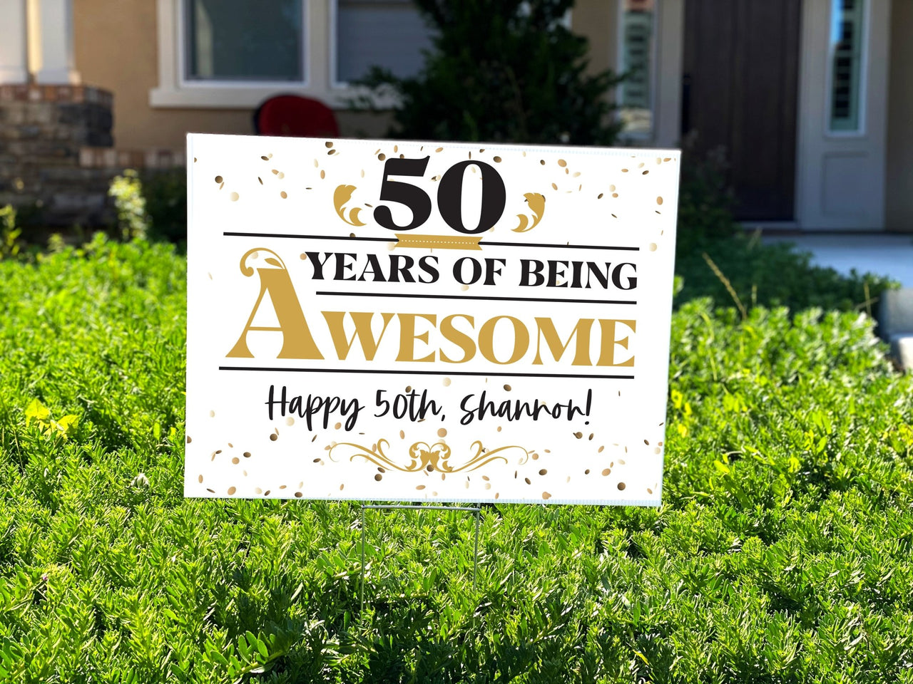 50 Years Of Awesome 50th Birthday Yard Sign - Rich Design Co