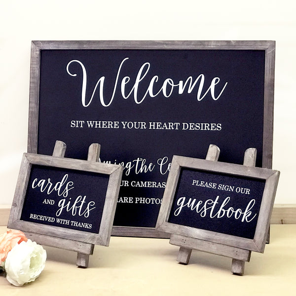 Chalkboard Wedding Sign Bundle | Rich Design Co